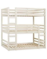 Forest Gate 3-Level Triple Twin Bunk Bed in White