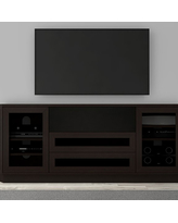 "Furnitech 78"" FT78CL Transitional TV Console (Dark Brown Wenge)"