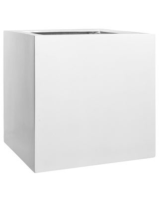 "Natural Block Square Planter Pot Indoor Outdoor Fiberstone Planter Box 24-in- Extra Large - 24"" (24"" x 24"" x 24"" - White)"