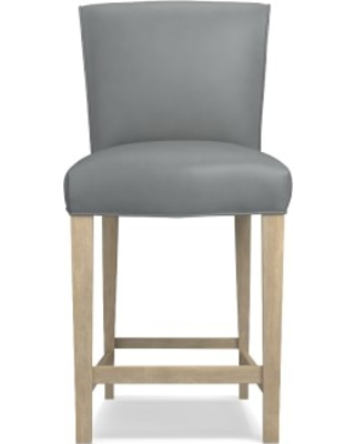 Fitzgerald Counter Stool, Heritage Grey, Tuscan Leather, Dove
