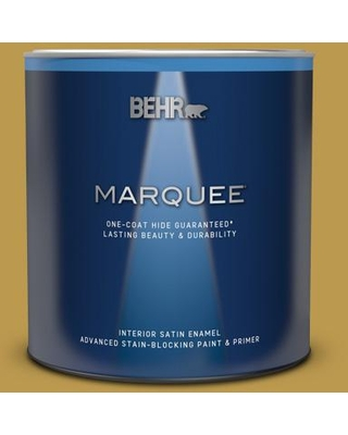 BEHR MARQUEE 1 qt. #M320-6 Tangy Green Satin Enamel Interior Paint & Primer
