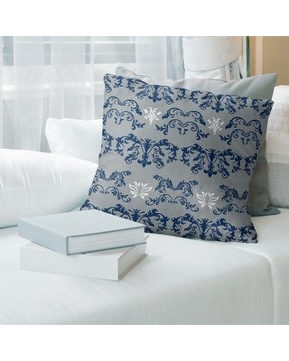 Indianapolis Football Baroque Pattern Accent Pillow-Faux Linen