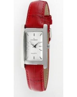 Peugeot Women's Leather Watch - 3008RD, Red