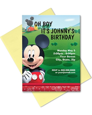 Mickey Mouse Invitation Customizable Official shopDisney