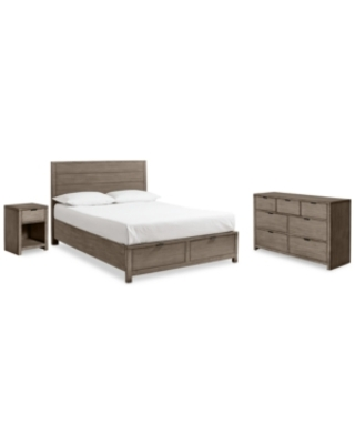 Tribeca Storage Bedroom Furniture, 3-Pc. Set (Full Bed, Dresser & Nightstand), Created for Macy's