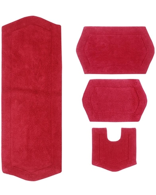 Check Out Deals On Home Weavers Inc Waterford Collection Red 17 In X 24 In 21 In X 34 In 20 In X 20 In 22 In X 60 In Bath Rug Set