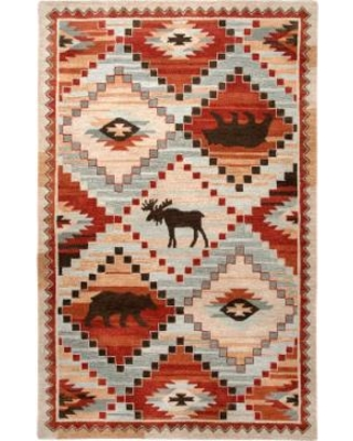 Rizzy Home Northwoods Lodge Patchwork III Geometric Rug, Red