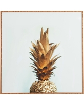 "Chelsea Victoria The Gold Pineapple Framed Wall Art 20"" x 20"" - Deny Designs"