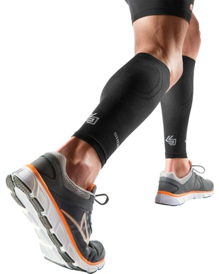 Shock Doctor Elite SVR Recovery Compression Calf Sleeves, Size: XL