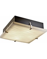 "Justice Clips 16 1/2"" Wide Nickel Ceiling Light"