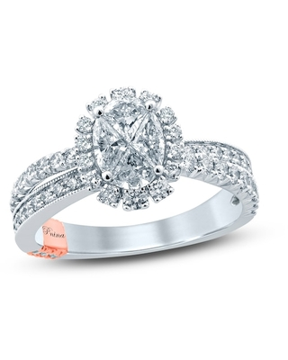 Jared The Galleria Of Jewelry Pnina Tornai Diamond Engagement Ring 1-1/3 ct tw Pie/Round 14K Two-Tone Gold
