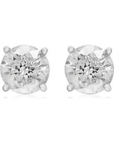 Effy White Gold 1.5 ct. t.w. Classic Diamond Stud Earrings in 14K White Gold