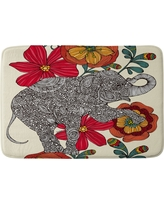 "Valentina Ramos Clementine Cushion Bath Mat (36""x24"") Red - Deny Designs"