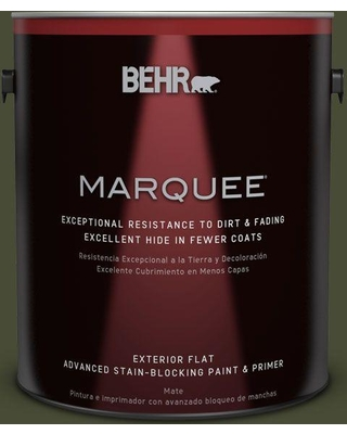 BEHR MARQUEE 1 gal. #ECC-37-3 Freshwater Marsh Flat Exterior Paint and Primer in One