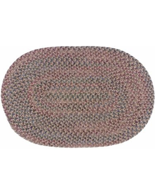 Colonial Mills Woolux Braided Oval 42 x 66 Rug, Brown, 42X66