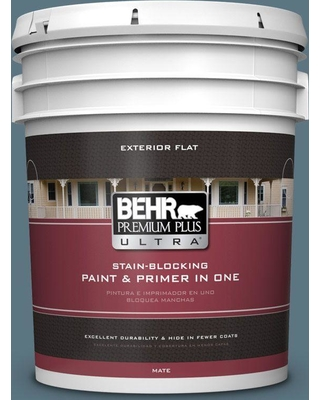 BEHR Premium Plus Ultra 5 gal. #530F-6 Heron Flat Exterior Paint and Primer in One