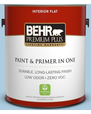 BEHR Premium Plus 1 gal. #M500-2 Early September Flat Low Odor Interior Paint and Primer in One