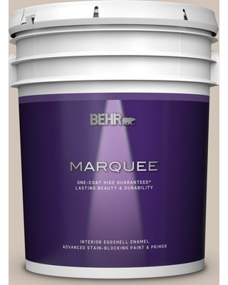 BEHR MARQUEE 5 gal. #PWN-70 Indulgent Mocha Eggshell Enamel Interior Paint and Primer in One