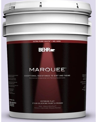 BEHR MARQUEE 5 gal. #640A-2 Misty Violet Flat Exterior Paint and Primer in One