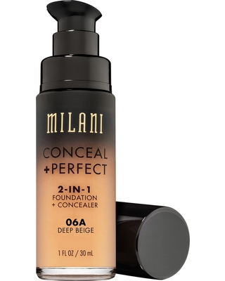Milani Conceal + Perfect 2-in-1 Foundation 06A Deep Beige - 1 fl oz