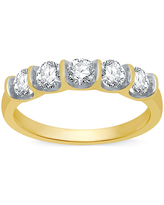 Ever Star 2MM 1 CT. T.W. Lab Grown White Diamond 10K Gold Band, 8 , No Color Family