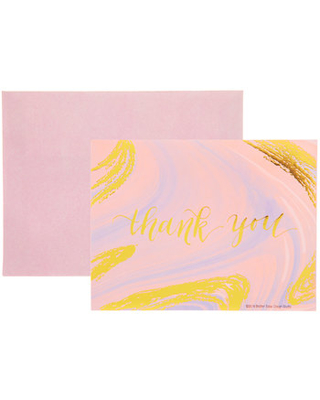 Marbled Thank You Cards