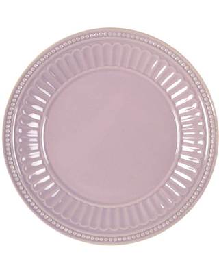 Lenox French Perle Groove Violet Salad/Dessert Plate