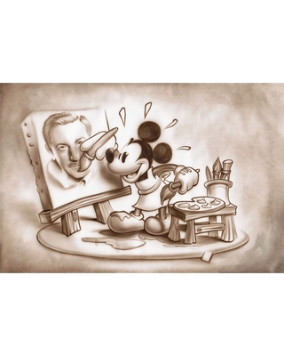 Mickey Mouse ''A Stroke of Genius'' Gicle by Noah Official shopDisney