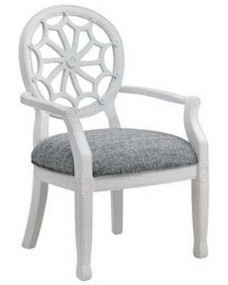 Powell Spider Web Back Accent Chair, White