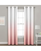 Lush Decor 2-pack Mia Ombre Insulated Grommet Blackout Window Curtain Set, Pink, 38X95
