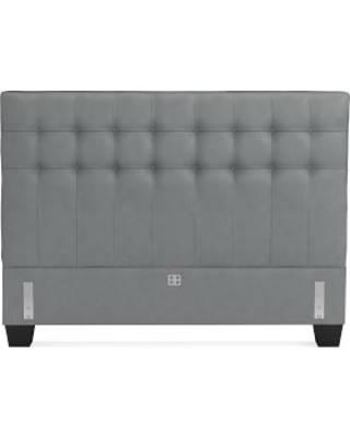 Fairfax Low Headboard Only, Queen, Tuscan Leather, Dove