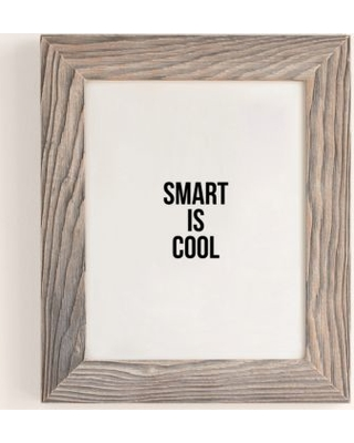 Cult Paper Smart Is Cool Art Print - Grey 18X24 at Urban Outfitters