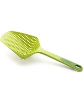 Joseph Joseph Updated Scoop Strainer/Colander/Slotted Spoon, Large, Green