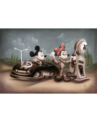 Mickey and Minnie Mouse ''Service with a Smile'' Limited Edition Gicle by Noah Official shopDisney