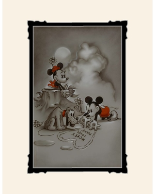 Mickey and Minnie Mouse ''Mickey Loves Minnie'' Deluxe Print by Noah Official shopDisney