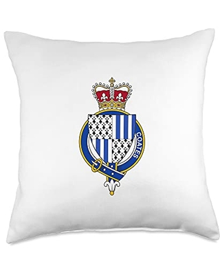 Family Crest and Coat of Arms clothes and gifts Coat of Arms-Family Crest Throw Pillow, 18x18, Multicolor