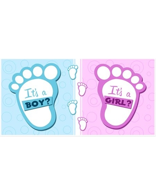 Great Deal On Blue And Pink Boy Or Girl Baby Shower Banner