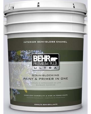 BEHR Premium Plus Ultra 5 gal. #MQ3-59 Will O the Wisp Semi-Gloss Enamel Interior Paint and Primer in One