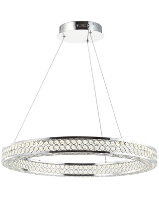JONATHAN Y Transitional1-Light Clear/Chrome Modern/Contemporary Crystal Chandelier | JYL7201A