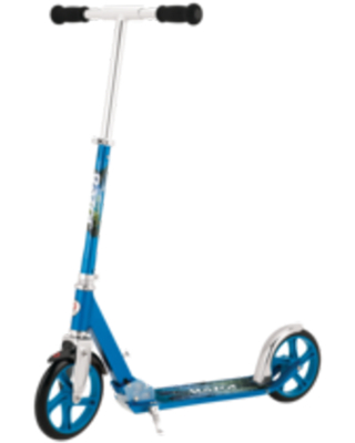 """Razor A5 Lux Kick Scooter, 8"""" Large Wheels, Lightweight Aluminum Folding Scooter for Riders Up to 220 lbs"""
