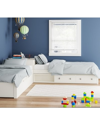 The Best Sales For Granville L Shaped Storage Twin Platform Bed With Trundle Bed Frame Color White