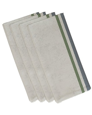 Simply Daisy, 19 x 19 inch , Patches Napkin (Set of 4), Maroon