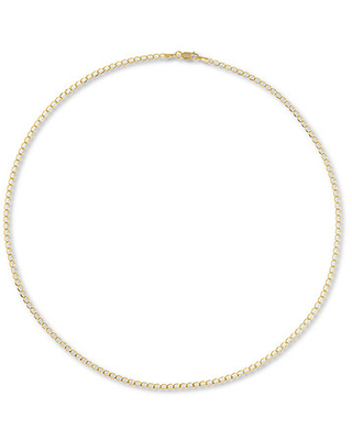 "Curb Chain Necklace 10K Yellow Gold 20"" Length"