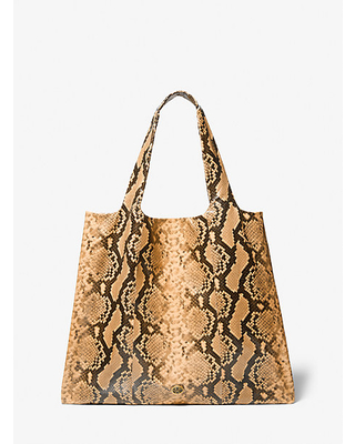 Monogramme Python Embossed Leather Tote Bag