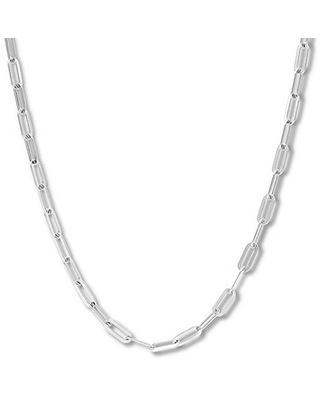 """Oval Link Chain Necklace Sterling Silver 24"""""""