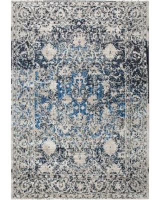 Rizzy Home Panache Transitional Distressed Ornate I Geometric Rug, Med Grey