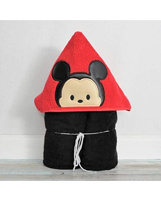 Cute Round Cartoon Mouse Hooded Bath Towel for Baby Child and Teens