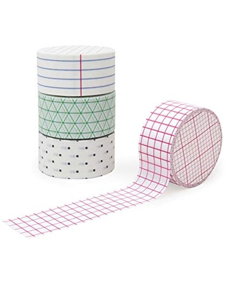 Suck UK Memo Washi Tape | Art Supplies | Decorative Paper Masking Tape | Coloured Adhesive Tape | Set of 4 Cool Selotape Rolls | Craft Supplies | Scrapbooking Accessories | Japanese Stationery, Multi