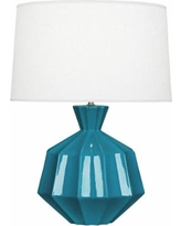 Robert Abbey Orion Peacock Ceramic Table Lamp