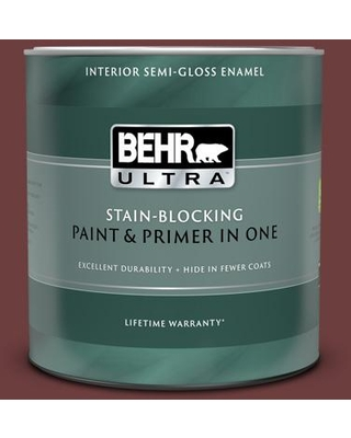 New Deal On Behr Ultra 1 Qt S G 720 Fireside Extra Durable Semi Gloss Enamel Interior Paint And Primer In One